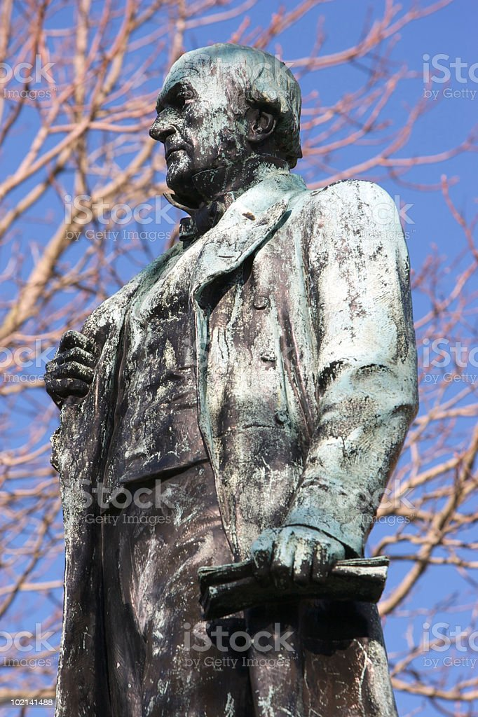 Statue of William Gladstone, St John's Gardens, Liverpool stock photo