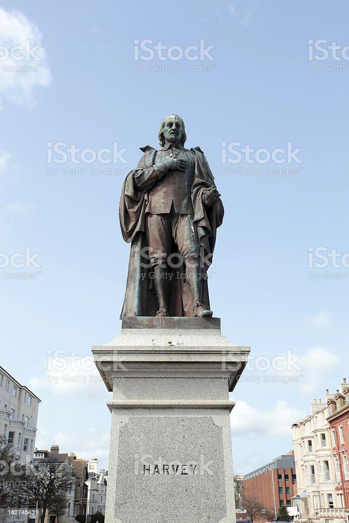 Statue of William Harvey erected in  Folkestone, Kent, UK stock photo