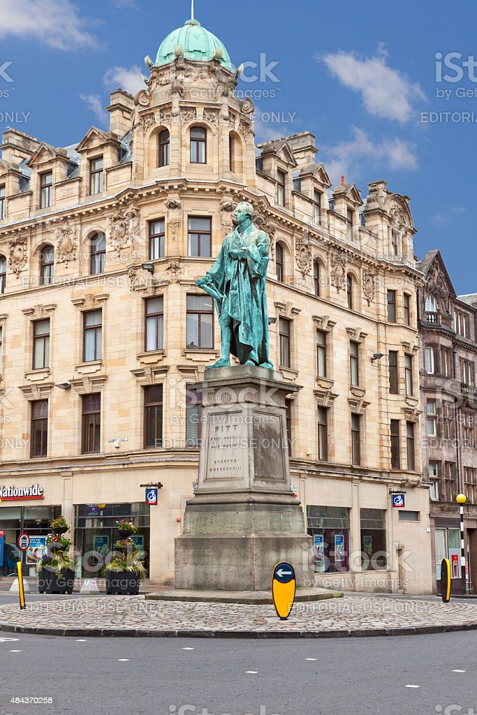 Statue of William Pitt, Edinburgh, Scotland, United Kingdom. stock photo