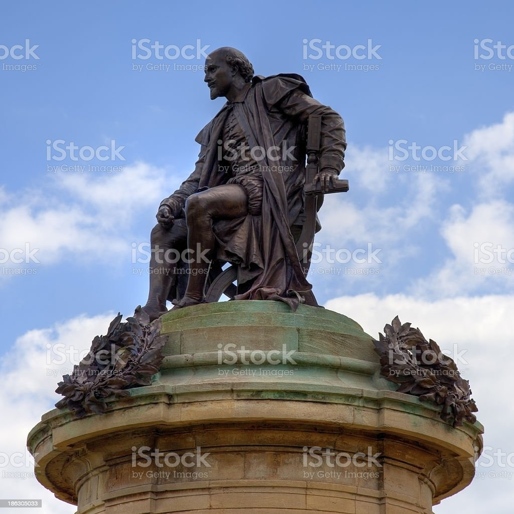 Statue of William Shakespeare stock photo