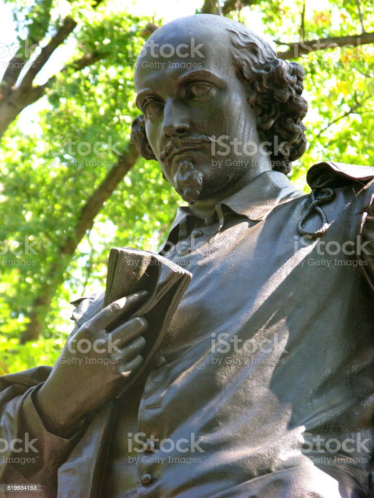 Statue of William Shakespeare stock photo