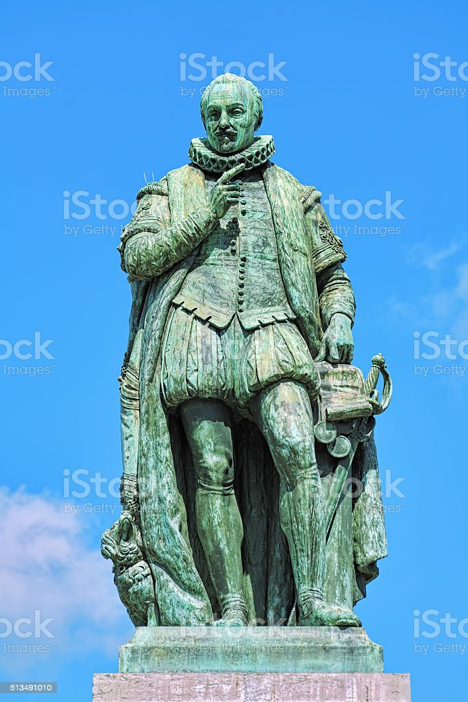 Statue of William the Silent in The Hague, Netherlands stock photo