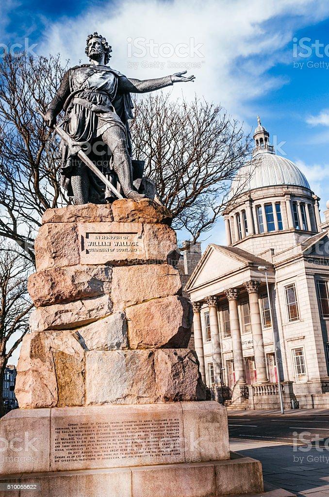 Statue of William Wallace, Aberdeen, Scotland stock photo