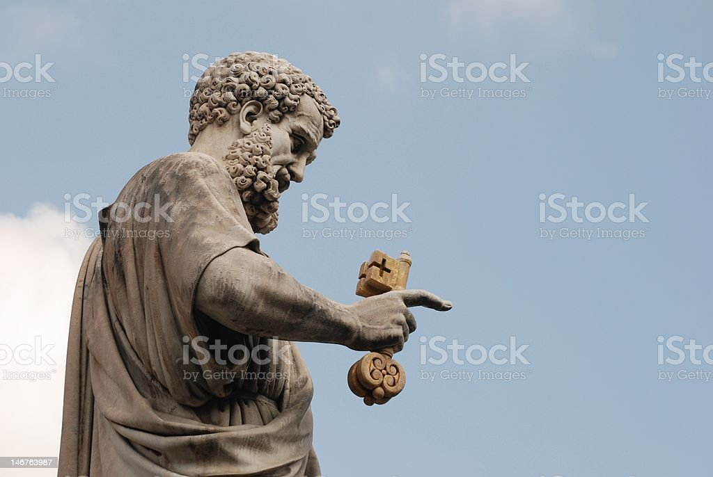 Statue of wiseacre royalty-free stock photo