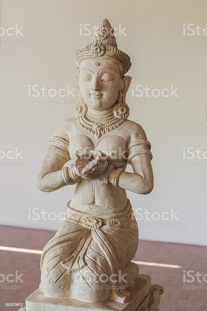Statue of woman stock photo