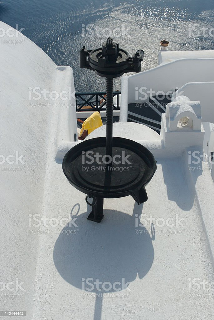 statue on a roof top royalty-free stock photo