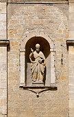 Statue on the Church of San Pietro in Volterra