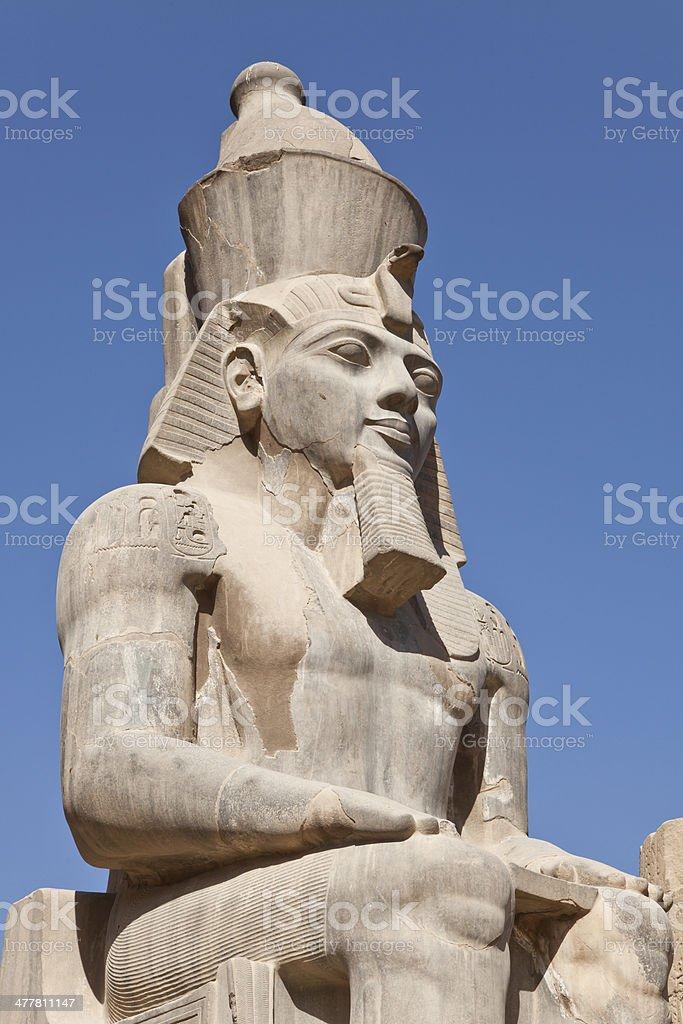 Statue Ramses II stock photo