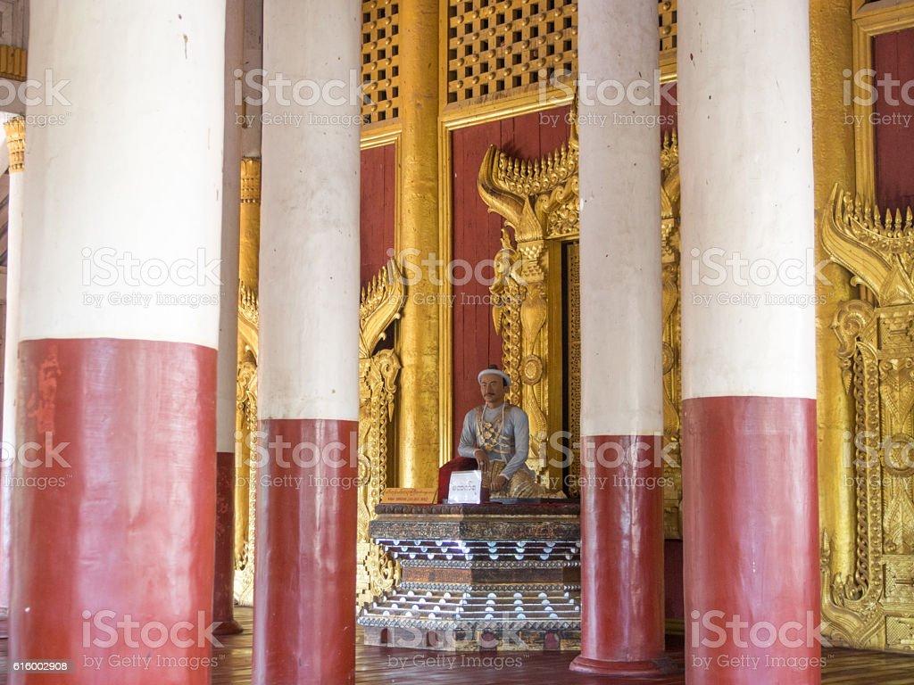 Statue, Royal Palace, Mandalay, Myanmar stock photo