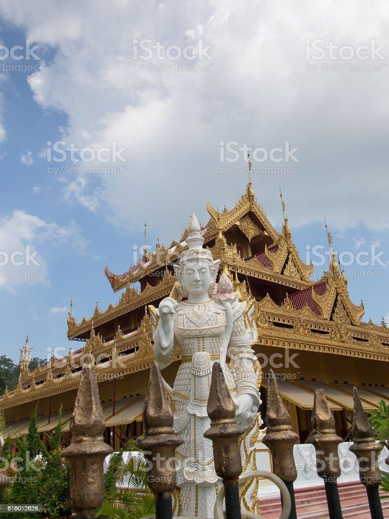 Statue, Sandamuni Pagoda, Mandalay, Myanmar stock photo