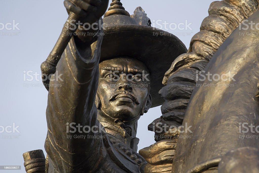 Statue Thai King Taksin royalty-free stock photo