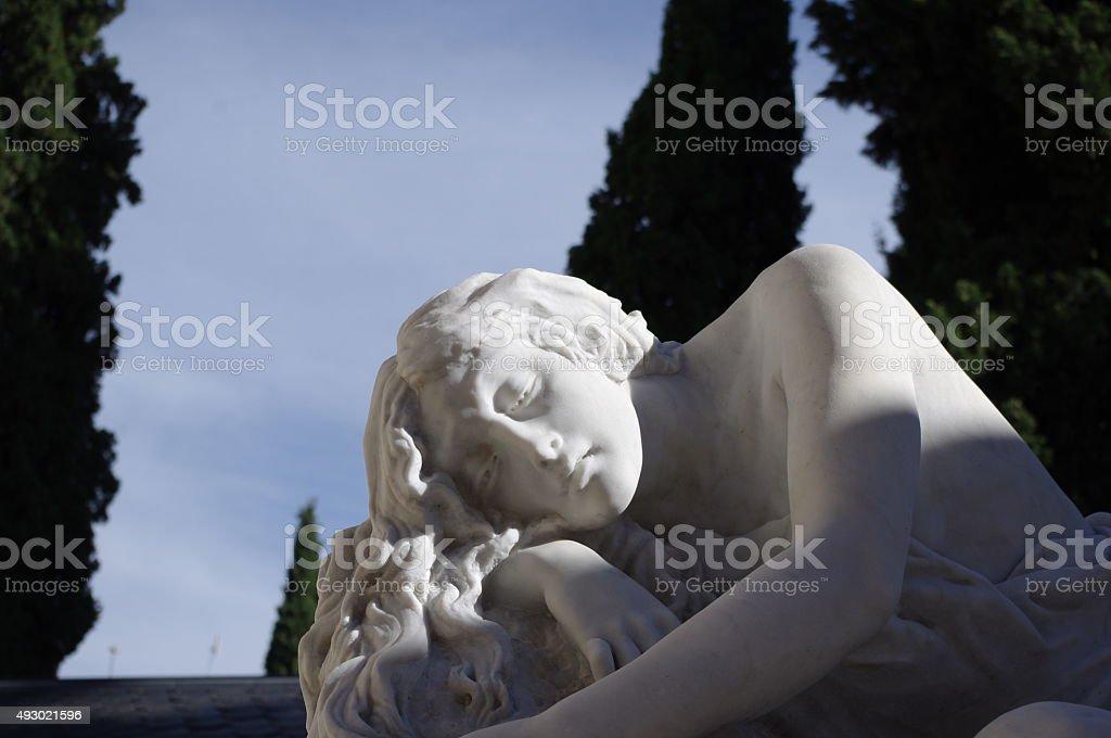 statue thinking stock photo