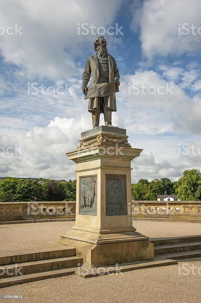 Statue to Sir Titus Salt, in Saltaire stock photo
