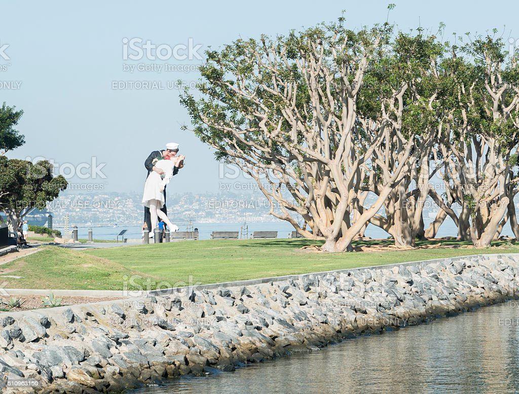 Statue Unconditional Surrender stock photo