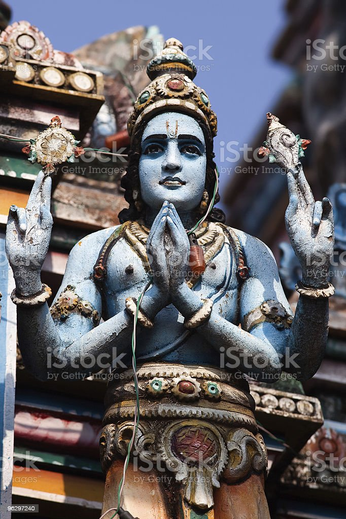 statue  Vishnu Temple of Cochin stock photo