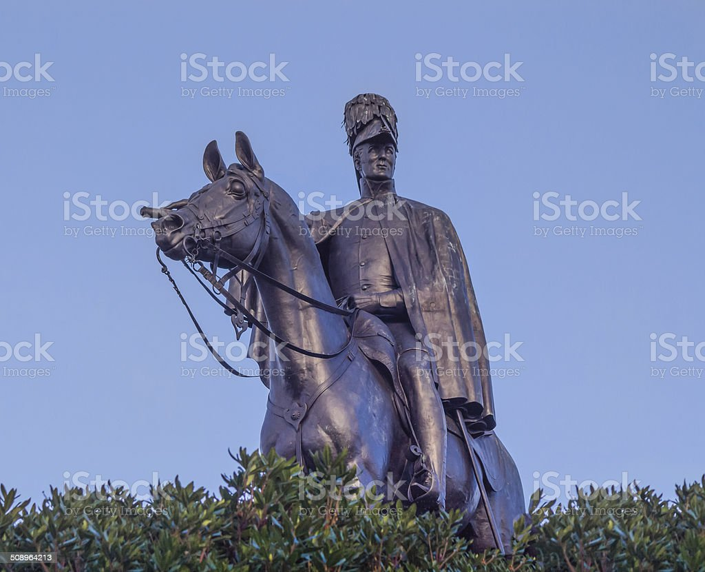 Statue Wellington stock photo