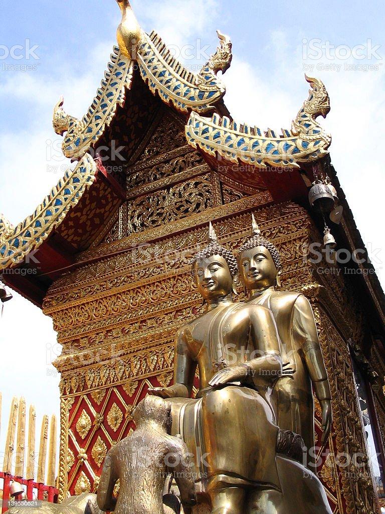 Statue/Building near Stup Pagoda royalty-free stock photo