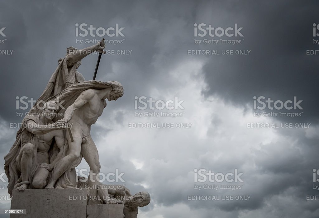 Statues 2. Scenes from Rome at Easter stock photo