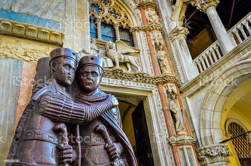 Statue in Palazzo Ducale-Venezia Venezia foto stock royalty-free