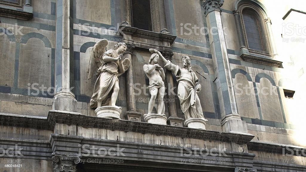 Statues at Florence Baptistery stock photo