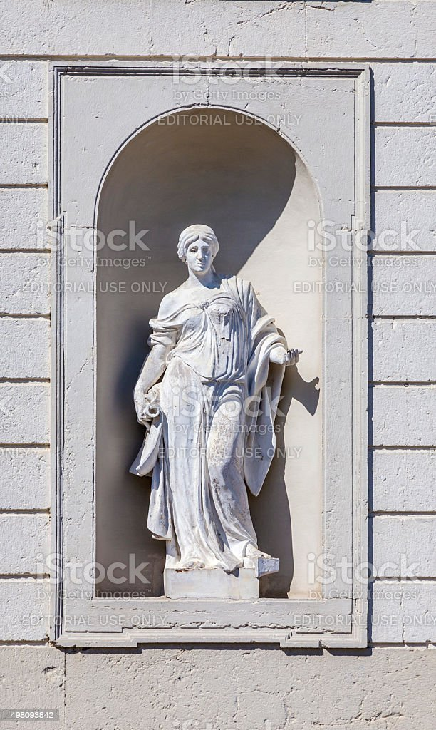 statues at the castle of Oberschleissheim in munich stock photo