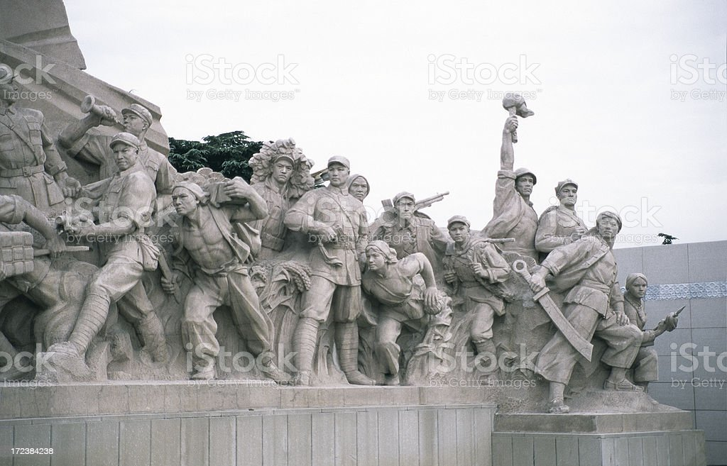 Statues at the Mao mausoleum, Beijing. royalty-free stock photo