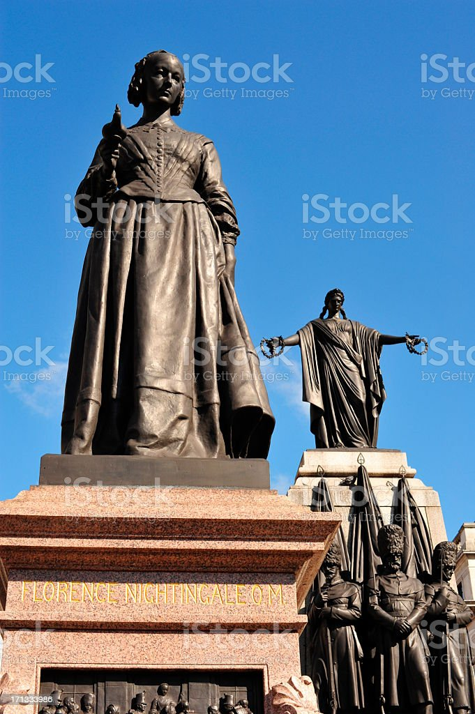 Statues at Waterloo Place, London stock photo