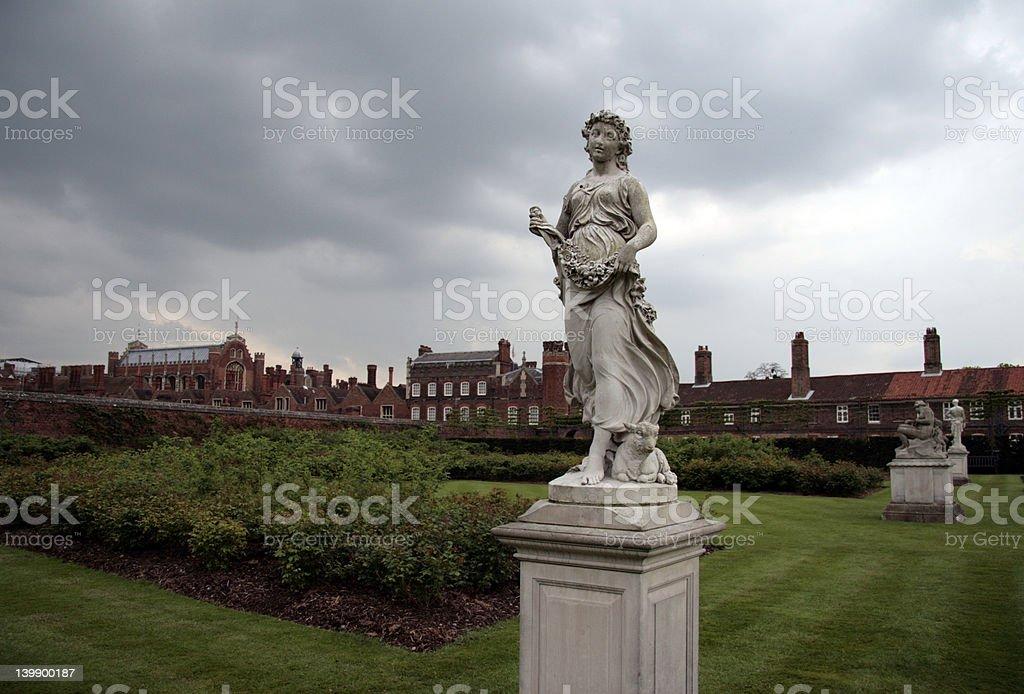 Statues in an garden stock photo