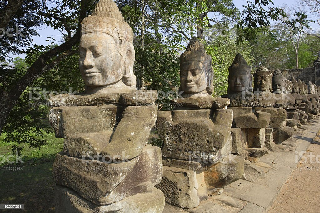Statues in Cambodia stock photo