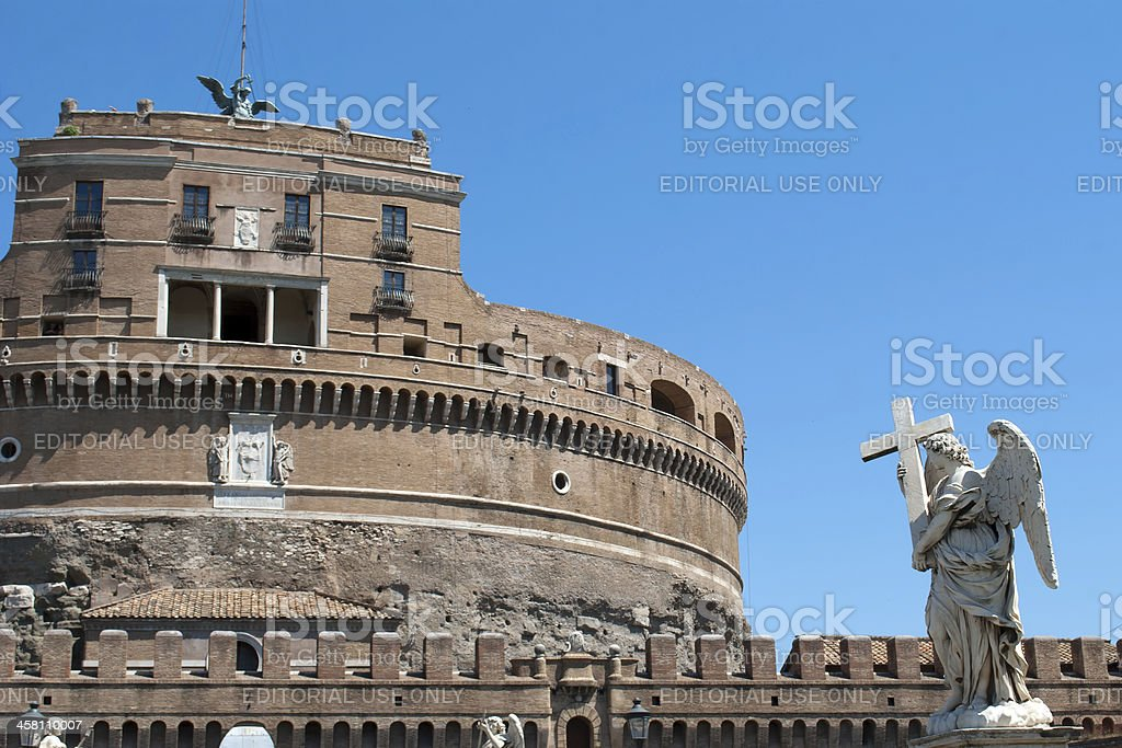 Statue in Castel Sant'Angelo royalty-free stock photo