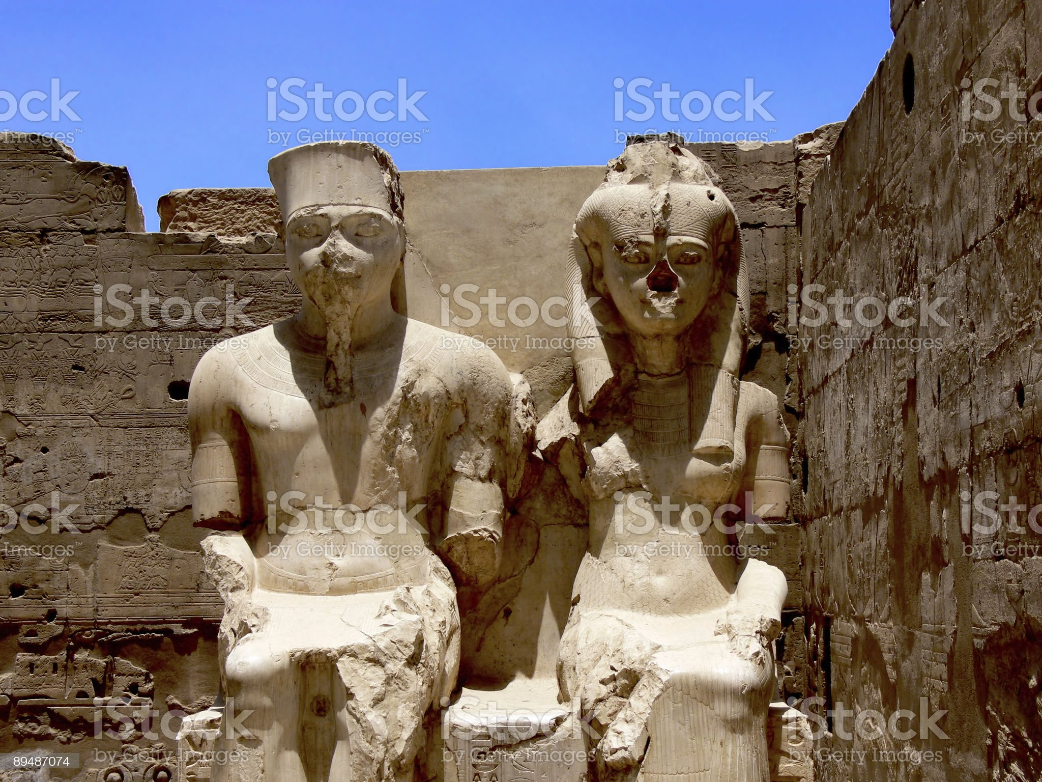 Statues in Egypt royalty-free stock photo