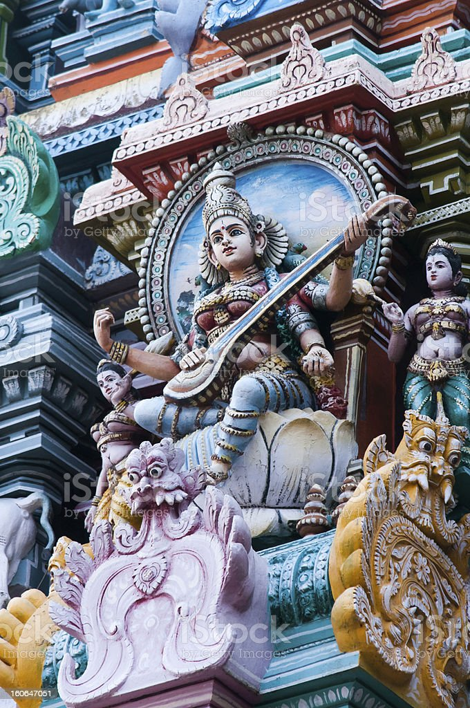Statues in Meenakshi Temple royalty-free stock photo