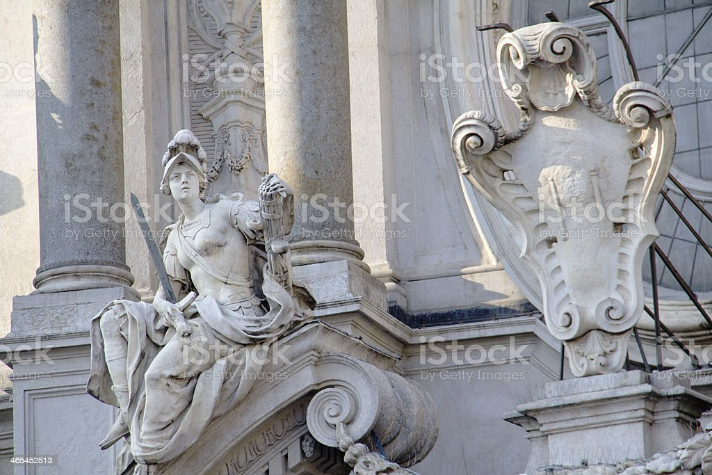 Statues in Torino royalty-free stock photo