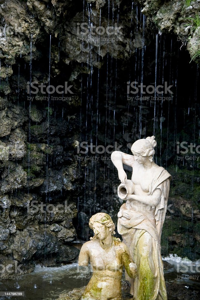 Statues in water II royalty-free stock photo
