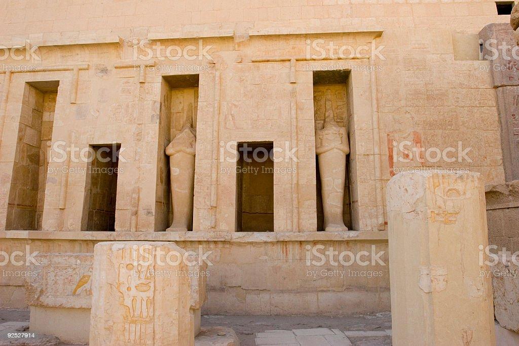 Statues of a Pharaoh stock photo
