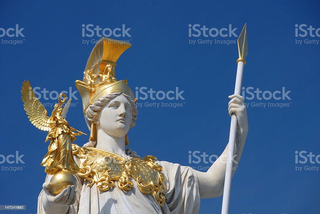 Statues of Apollo in Vienna stock photo