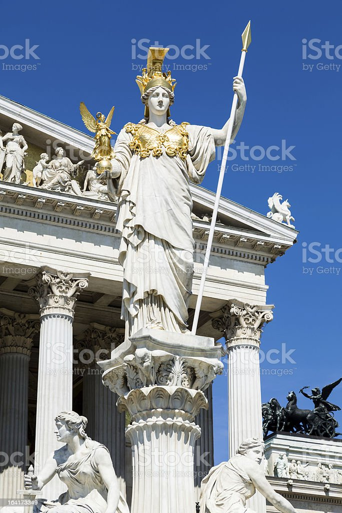 Statues of Apollo in Vienna royalty-free stock photo
