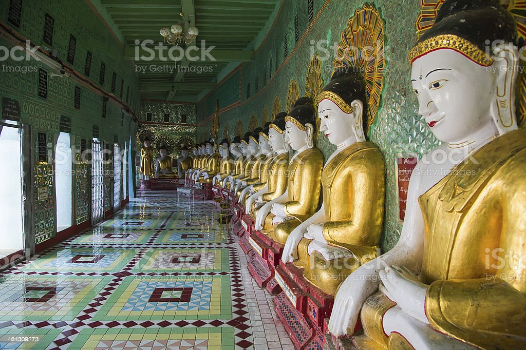 Statues of Buddha stock photo