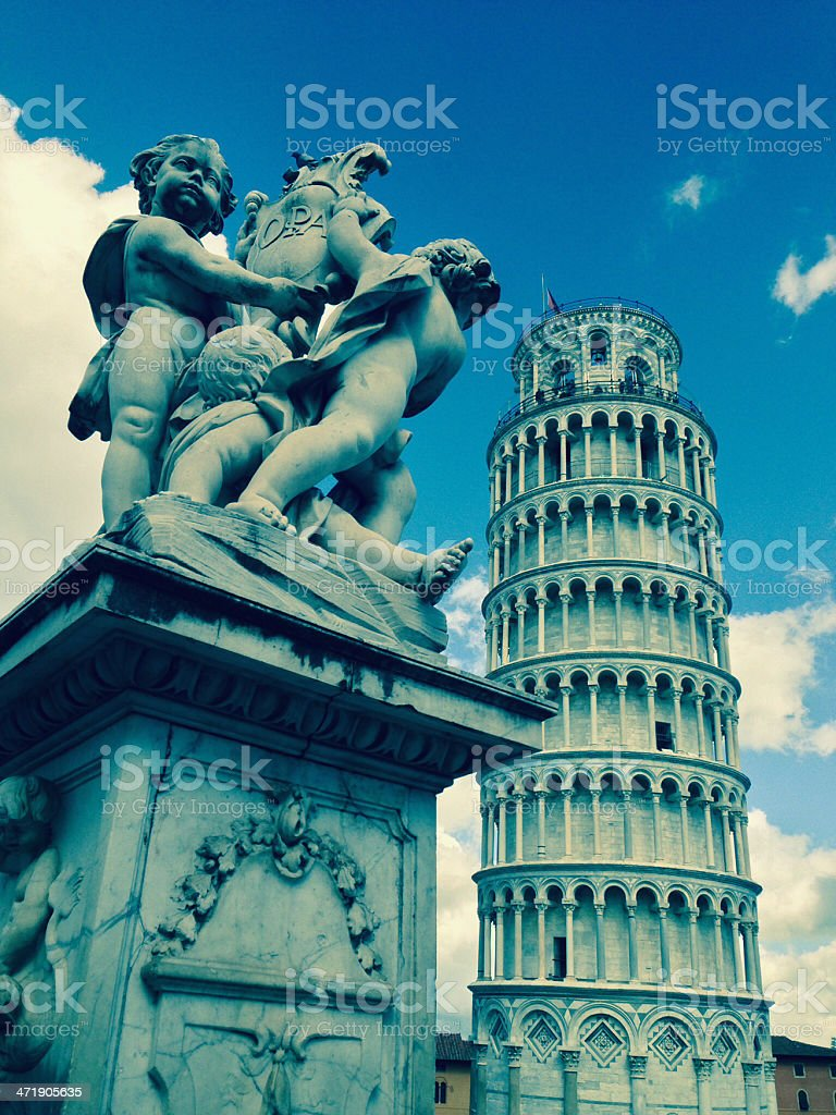 Statues of Piazza dei Miracoli royalty-free stock photo