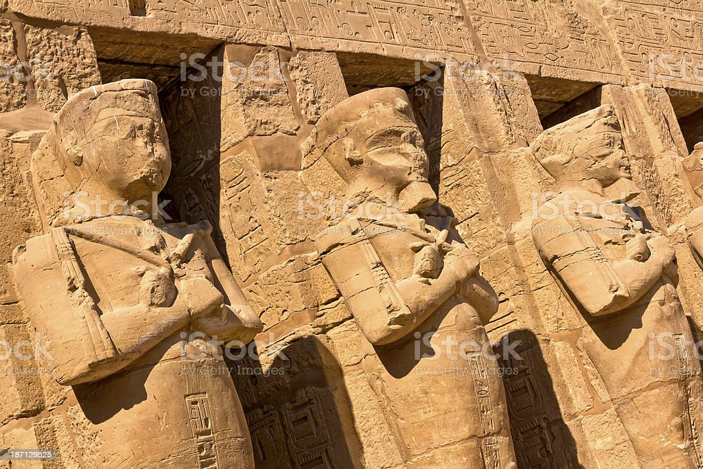 Statues of Rameses II royalty-free stock photo