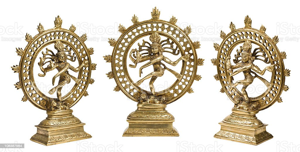 Statues of Shiva Nataraja isolated royalty-free stock photo