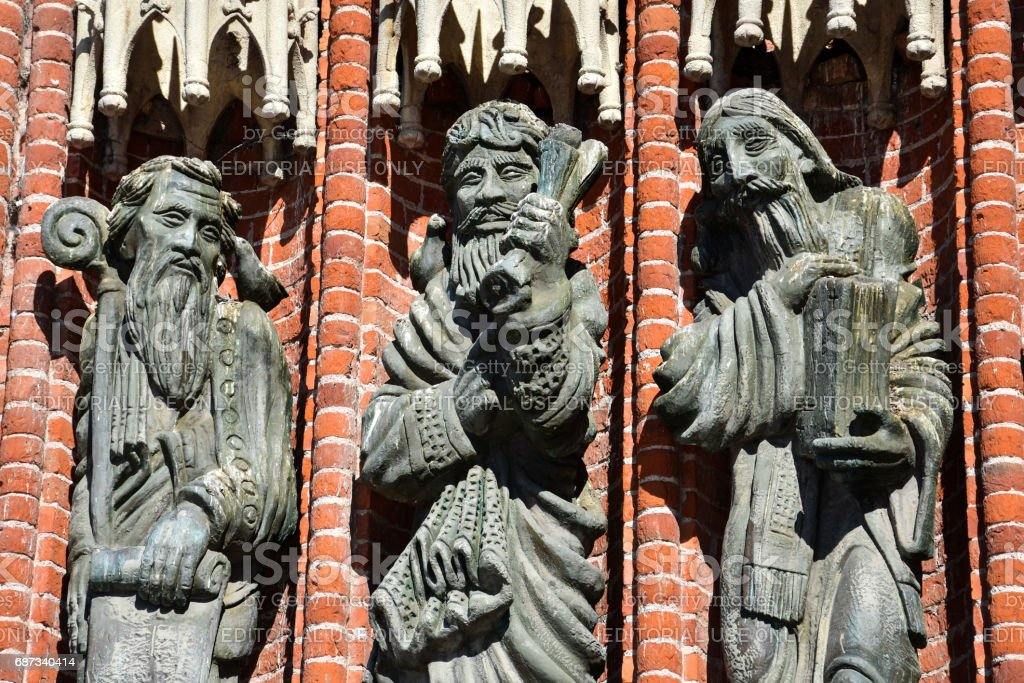 Statues of the Cathedral of La Plata stock photo
