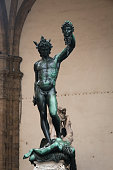 Statues on the main square in Florence, Italy