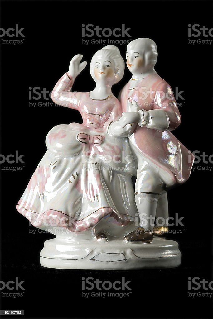 statuette from porcelain royalty-free stock photo