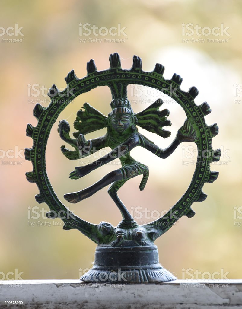 Statuette of the dancing Shiva stock photo
