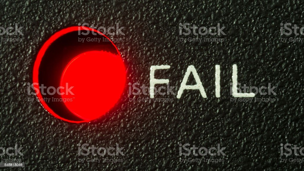 LED status Fail stock photo