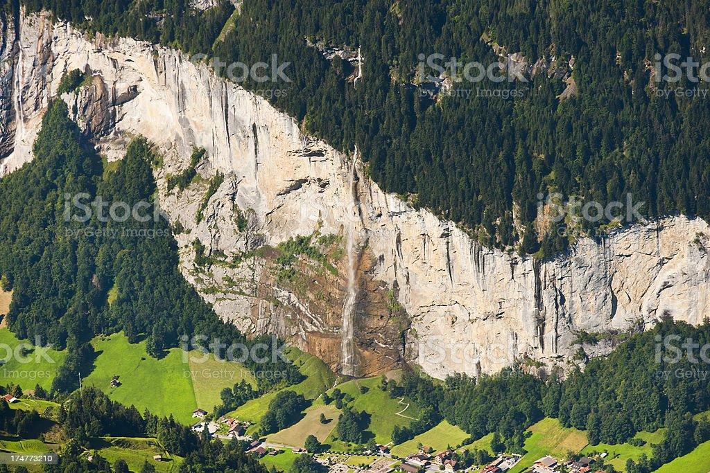 Staubbachfall, Swiss Alps stock photo