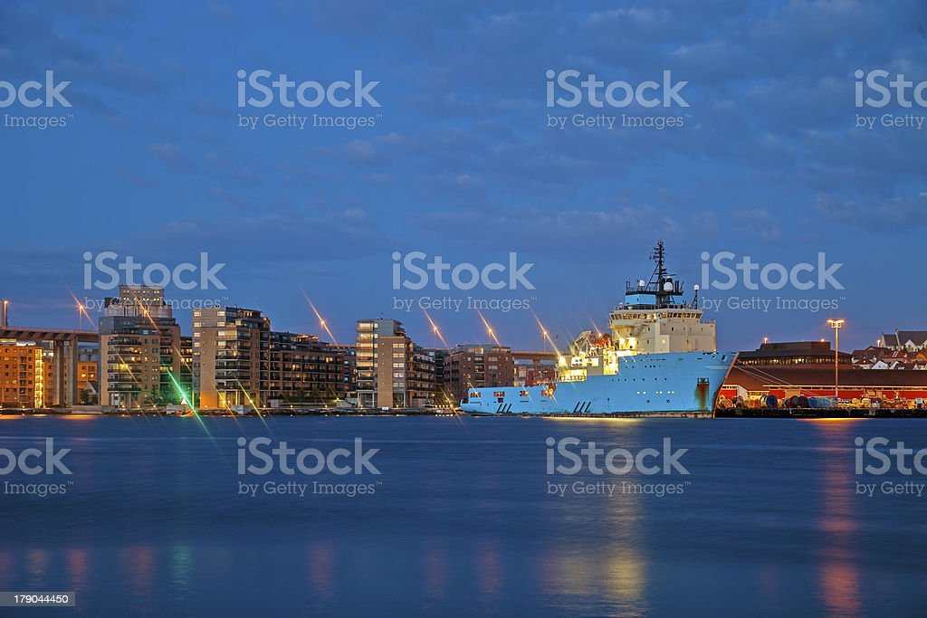 Stavanger by night royalty-free stock photo