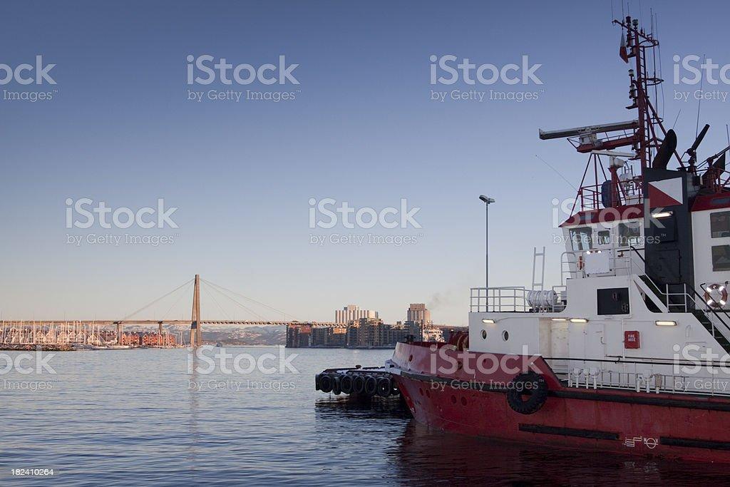 Stavanger city bridge, Norway stock photo