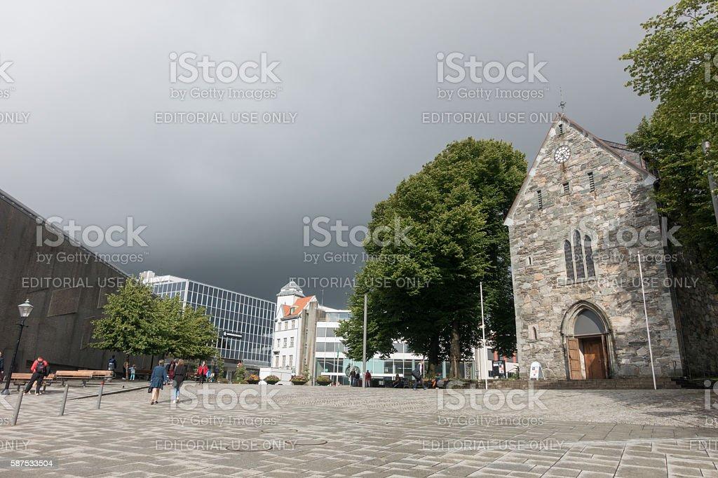 Stavanger Norway city centre view stock photo